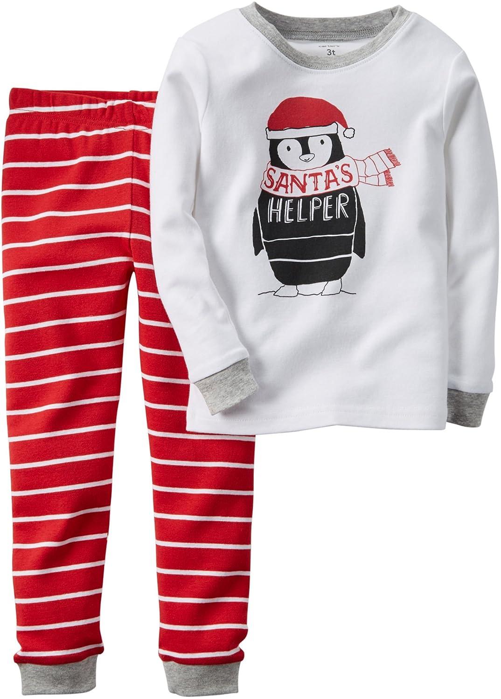 Amazon.com: Carter\'s Boys Santa Christmas 2-Piece Snug Fit Cotton ...