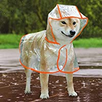 Chubasquero para Perros,Chubasquero para Perros con Capucha,Impermeable Perros,Mascotas Impermeables,Poncho Impermeable…