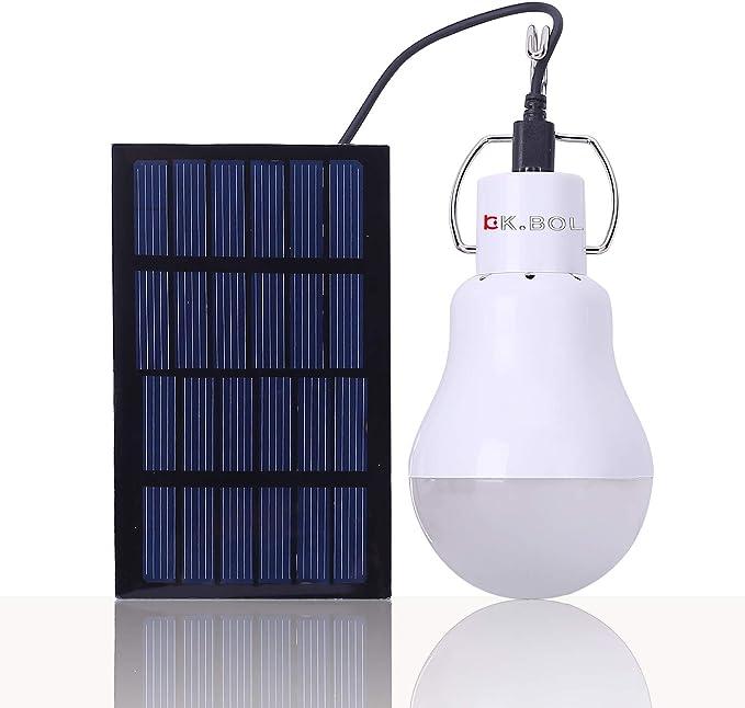 KK.BOL Portable Solar LED Light Bulb