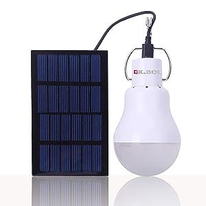 KK.BOL Portable Solar Led Light Bulb Rechargeable Solar Lamp S-1200-01 for Outdoor Lighting Fishing Camping Chicken coop Lamp Lights