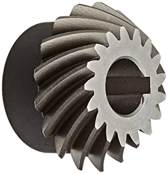 Steel with Case-Hardened Teeth 0.625 Bore Keyway 17 Teeth 35 Degree Spiral Angle 10 Pitch Boston Gear SH102-P Spiral Bevel Pinion Gear 2:1 Ratio