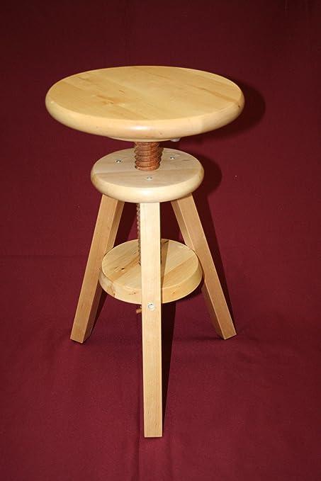 Ordinaire EHemco Wooden Adjustable Stool In Natural (18u0026quot; ...