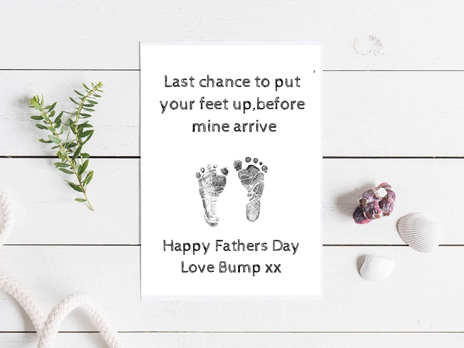 last chance to put your feet up happy fathers day from bump happy birthday greeting card,birthday,blank size 115x170mm