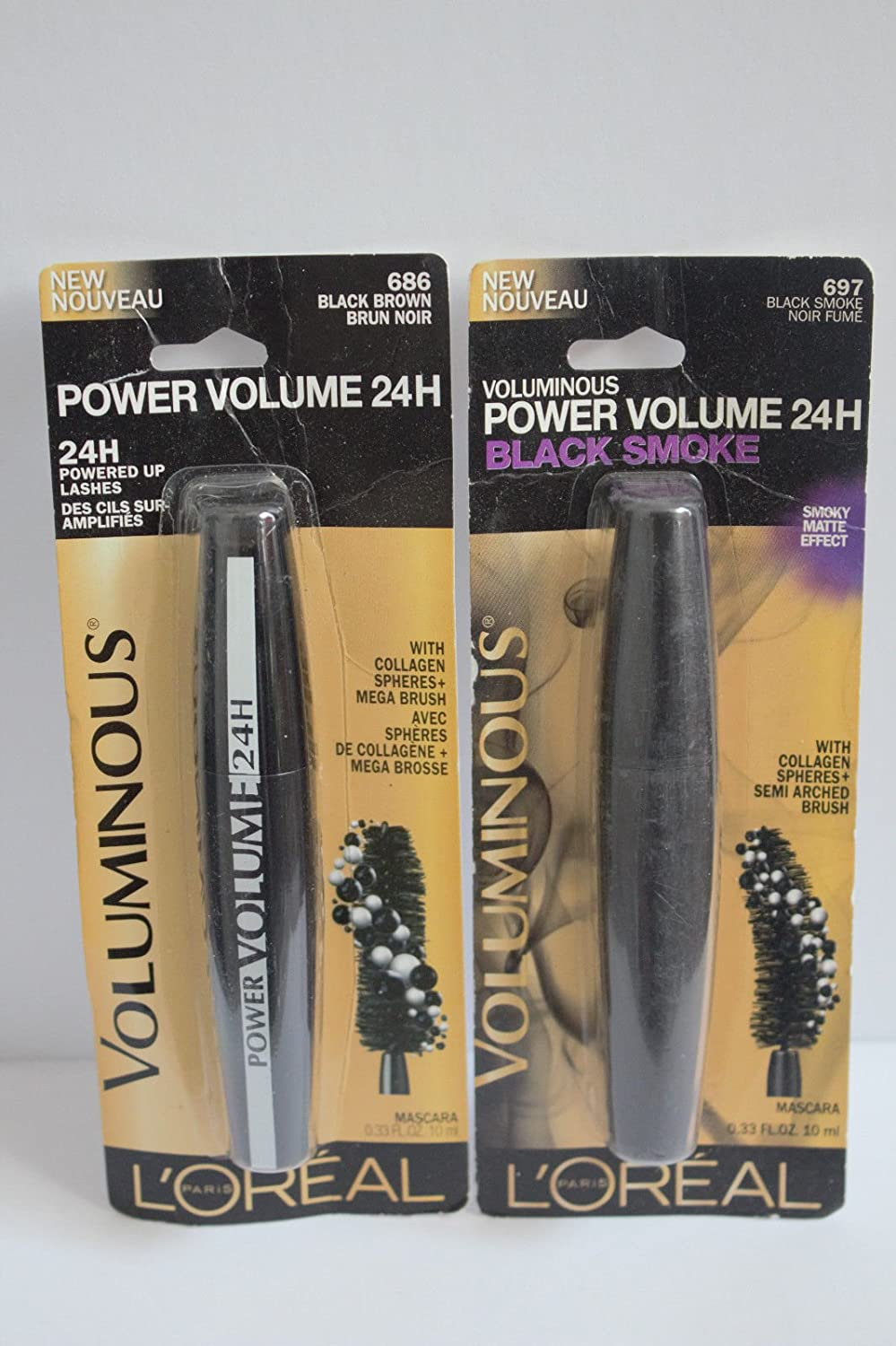 b96253d65a9 Buy 681 - Blackest Black : BUY 1, GET 1 AT 10% OFF L'Oreal Power Volume 24H  Mascara Choose Your Shade Online at Low Prices in India - Amazon.in