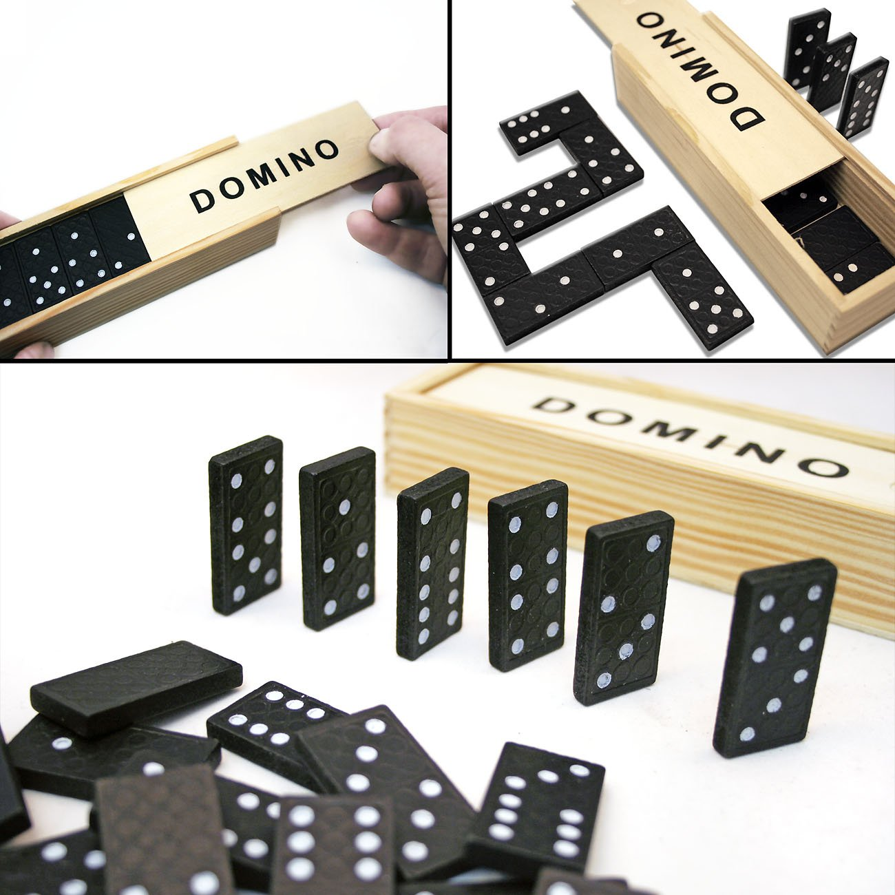 Playing Cards Classic Games For Corporate Games Evenings Cube Dice Cup Home Tools EU 4/Games Collection Domino Mikado Domino and Mikado with Wood Box Set of 4