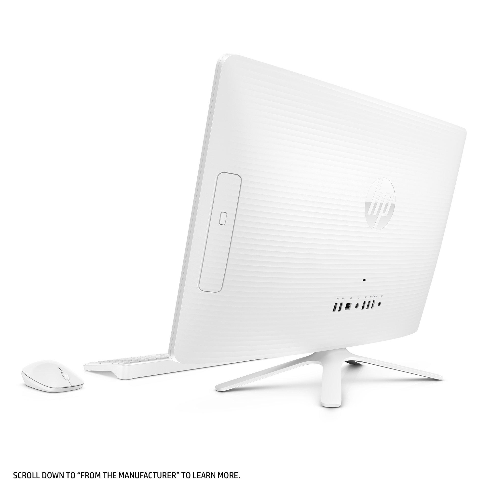 HP 24-inch All-in-One Computer, Intel Core i3-7100U, 4GB RAM, 1TB hard drive, Windows 10 (24-g230, White) by HP (Image #4)