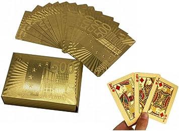 Kunststoff Gold Folie Spielkarten Sammlung Goldene Poker Poker Tisch Spiele E