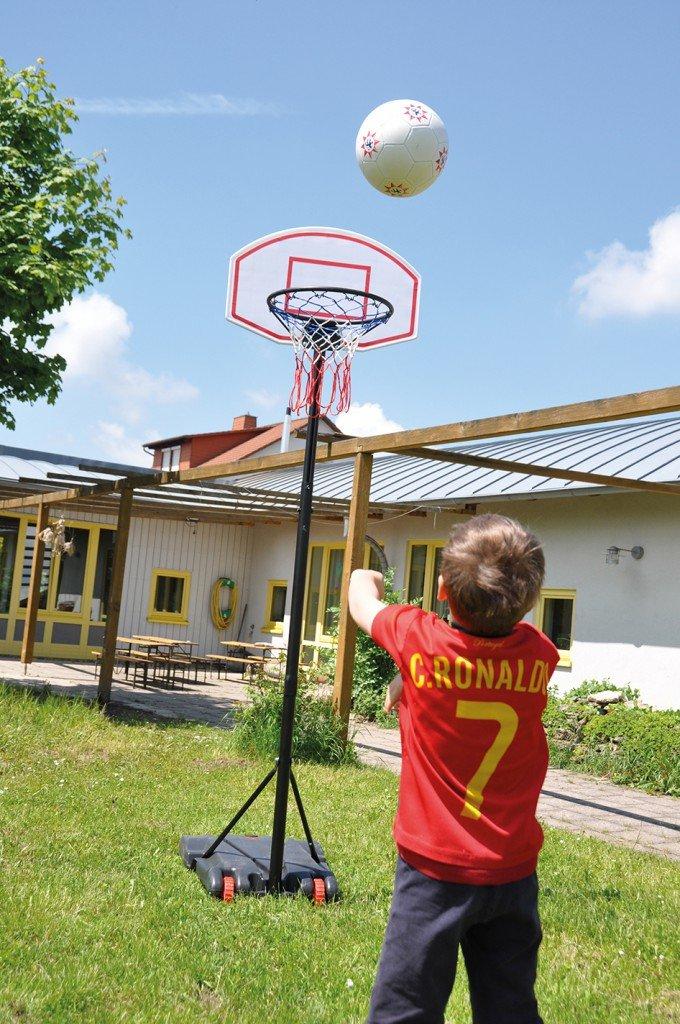 EDUPLAY 170-236 Basketballkor,b Ø 43 cm, mit Wurfbrett & Ständer, höhenverstellbar, mehrfarbig (1 Stück)