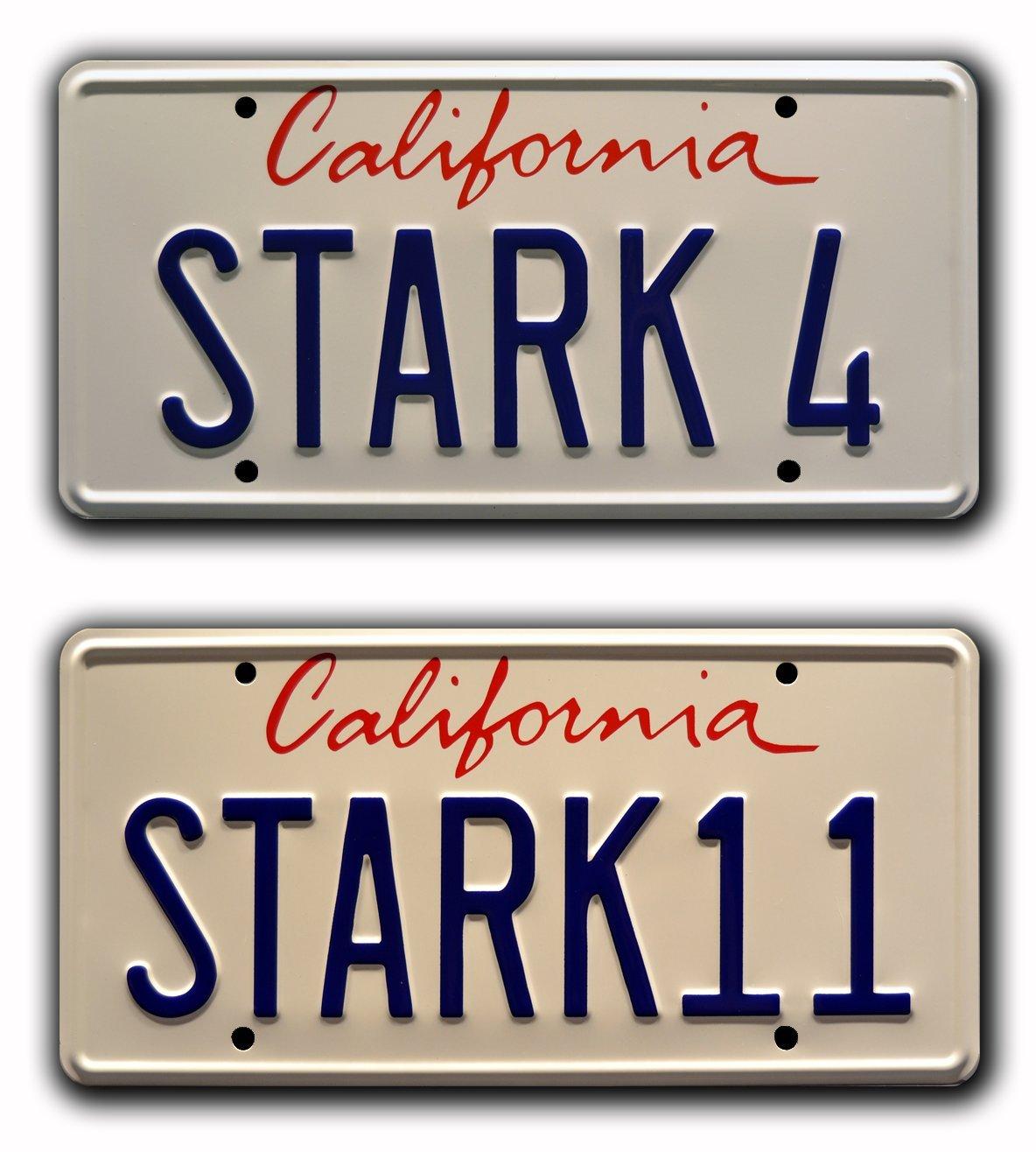 Metal Stamped Vanity Prop Targa 2007 Celebrity Machines Iron Man Tony Stark Audi R8/ Stark 4/
