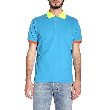 Peuterey Luxury Fashion Hombre PEU314699011880608 Azul Claro Polo ...