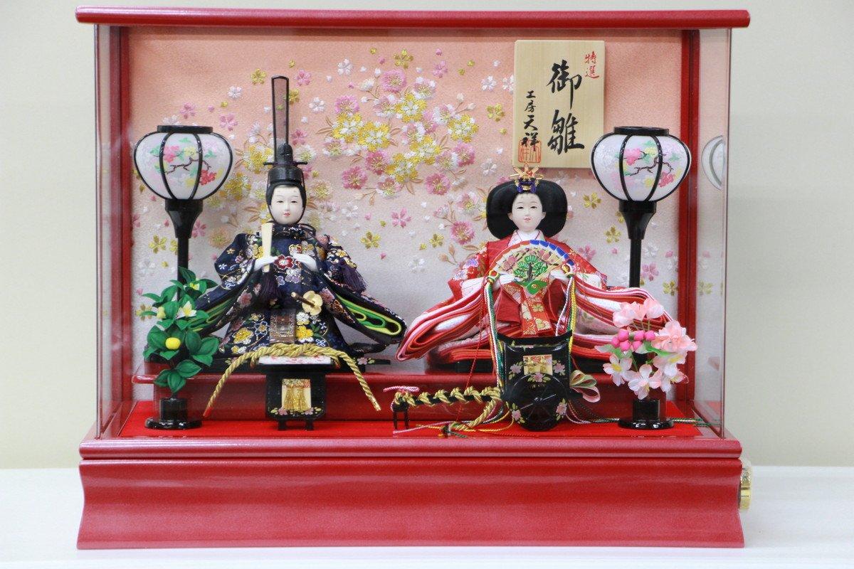 アクリル赤小親王ケース 712kt-case2 【雛人形ケース飾り】   B077P48M7C