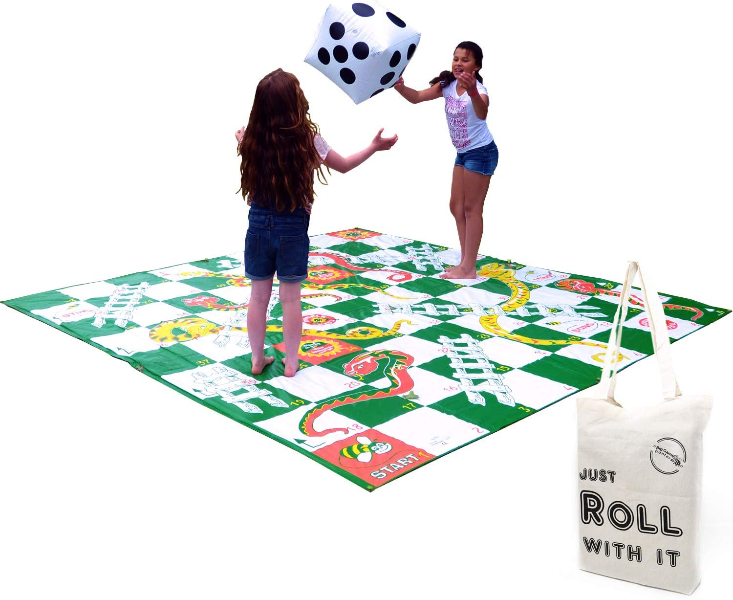 B00007FP6G FlagHouse - Giant Snakes And Ladders - Large Inflatable Die - Large playing mat - Jumbo Board Game 710BT8ahNaL.SL1500_