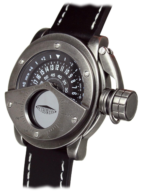 Retrowerk 24-h Scheiben Uhr - Spezialkronenhebel R004-B