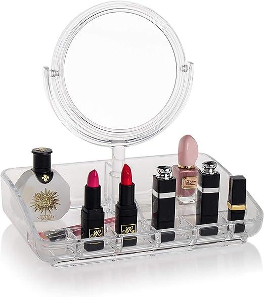 Ulinek Caja Maquillaje Organizador Transparente con 8 Espacios ...