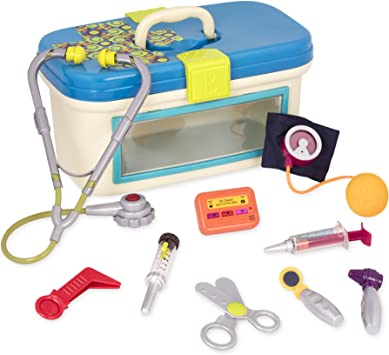 B Toys B Dr Doctor Toy Deluxe Medical Kit For Toddlers Pretend Play Set For Kids 10piece