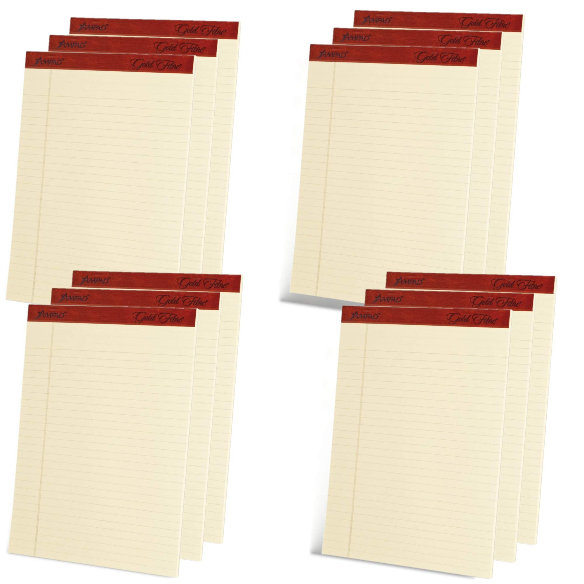 Ampad Heavyweight Writing Pad, 8.5 x 11.75 Inches, Ivory, 50-Sheet Pad (12 Pads per Pack) (20-011) by Ampad