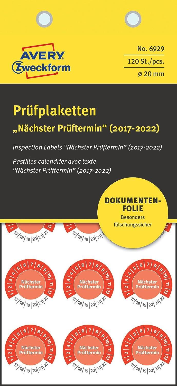 Avery Zweckform 6929 plaketten de comprobación (120 ...