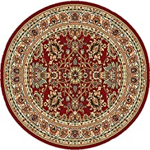 "Home Dynamix  Royalty Collection  HD5396-200  Red  39""  Round Area Rug"