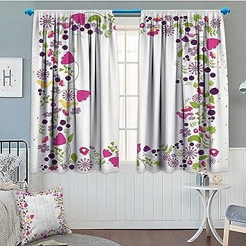 Amazon Com Lacencn Lifestyle Decor Window Curtain Drape Hello