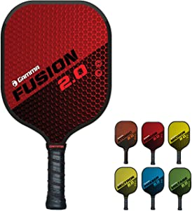 Gamma Sports 2.0 Pickleball Paddles: USAPA Approved, Textured Graphite or Fiberglass Surface, Honeycombed Aramid Core, Durable Flush-Fit Edge Guard, and Firm Honeycomb Grip, Indoor or Outdoor Play