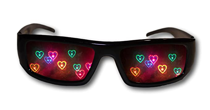 df794ab7660 Amazon.com  Heart Diffraction Glasses - See Hearts! Rave Glasses ...