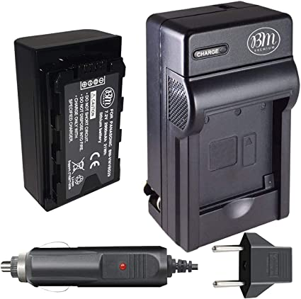 110//220v with Car /& EU adapters - Battery Charger for Panasonic CGR-D08 CGR-D16 CGR-D28 CGR-D54 Batteries Panasonic VW-VBD55 Camcorder Battery Charger