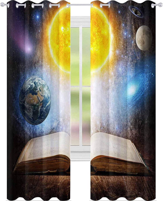 YUAZHOQI - Cortinas opacas para dormitorio, libro mágico