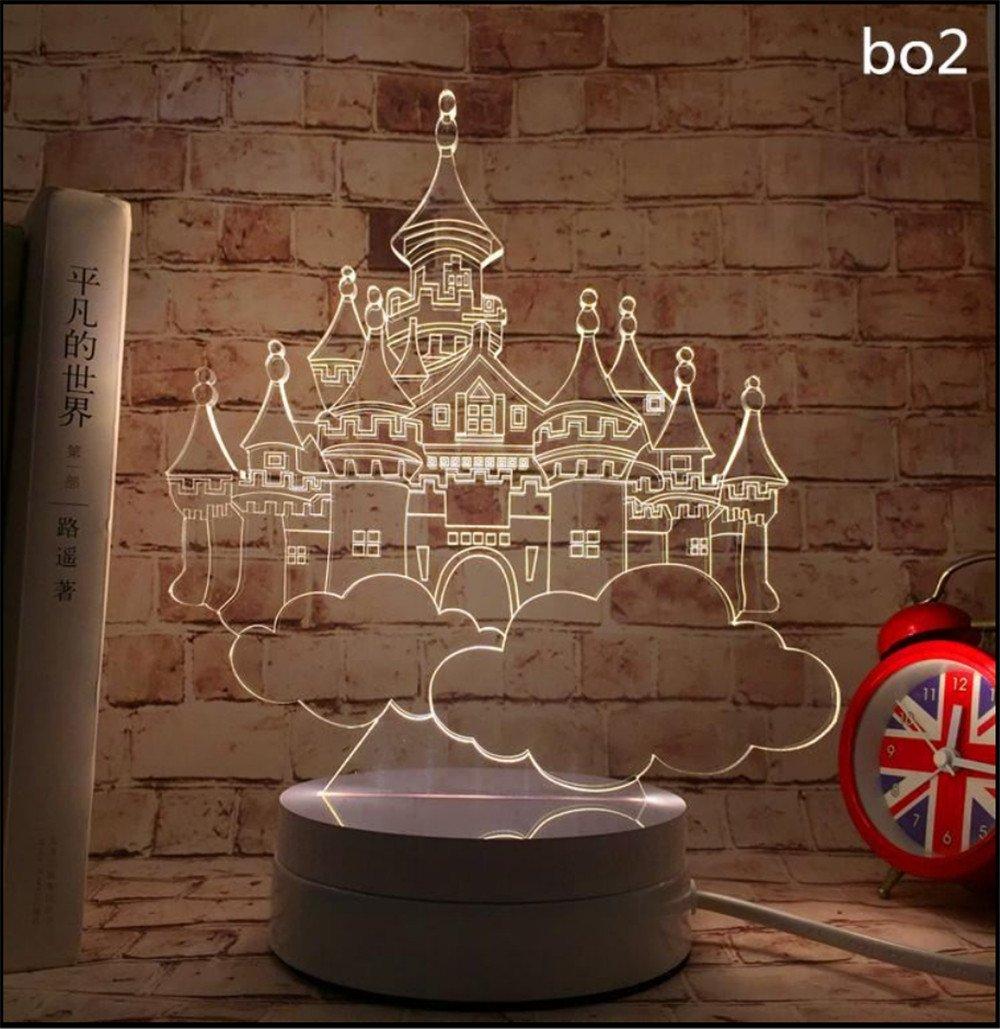 3d Little night lights Led creative Stereo Vision Schlafzimmer Nachtschränkchen Augenschutz Lampen