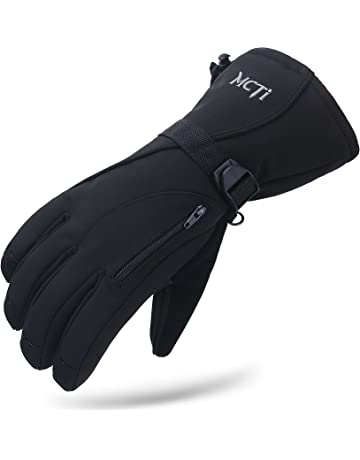 MCTi Guantes Esquí Impermeable Calientes Guantes Invierno Nieve Snowboard Ciclismo Térmica Thinsulate Hombre Mujer