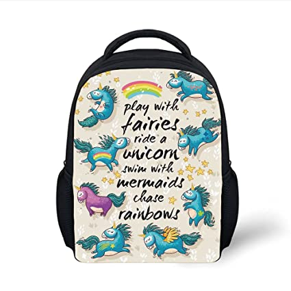 74af581bfeed Amazon.com: iPrint Kids School Backpack Cartoon,Unicorns with Stars ...