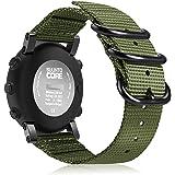 Fintie Suunto Core Watch Band, Premium Woven Nylon NATO Replacement Sport Strap w/Metal Buckle Compatible Suunto Core Smart Watch, Olive