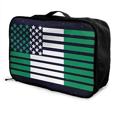 d6e81f228296 Amazon.com: American Nigerian Flag Men's Women's Travel Duffel Bag ...