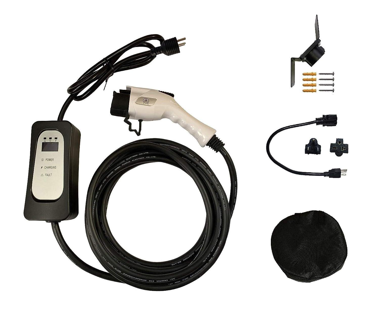 EV充電器 EVSE PHEV 100V-240V 16A LCD 25フィートコードSAE J1772 J1772A 電気自動車車の充電器 B07Q168LH7
