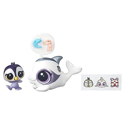 Littlest Pet Shop Dauphine Delphin & Ocean Tuxley: Toys & Games
