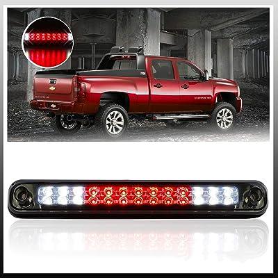 for GMC Chevy Suburban/Silverado/Tahoe/Blazer/Sierra/Yukon/Cadillac Escalade LED Bar 3rd Third Tail Brake Light Rear Cargo Lamp High Mount Stop light (Chrome Housing Smoke Lens): Automotive