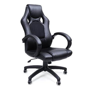 Bürostuhl Pu Songmics Stuhl Racing Schwarz Gaming Chefsessel Obg56b Drehstuhl 8P0wknO