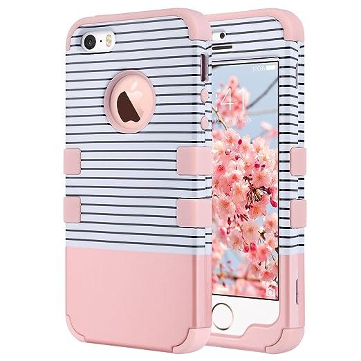 47 opinioni per Cover per iPhone 5s, ULAK iPhone SE / 5 Custodia ibrida a protezione integrale