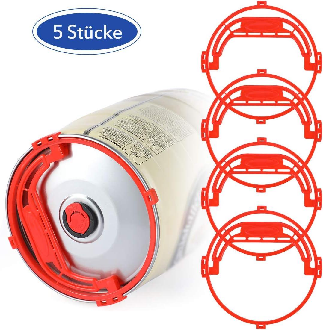 AIEVE - Mango para barril de cerveza, 5 piezas de asa de transporte de plástico para barril de fiesta de 5 litros, lata de 5 litros, reutilizable