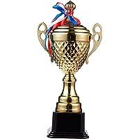 Gran Copa de Trofeo - Trofeo Dorado para torneos Deportivos, competiciones, Dorados, 39 cm x 19 cm x 9,5 cm