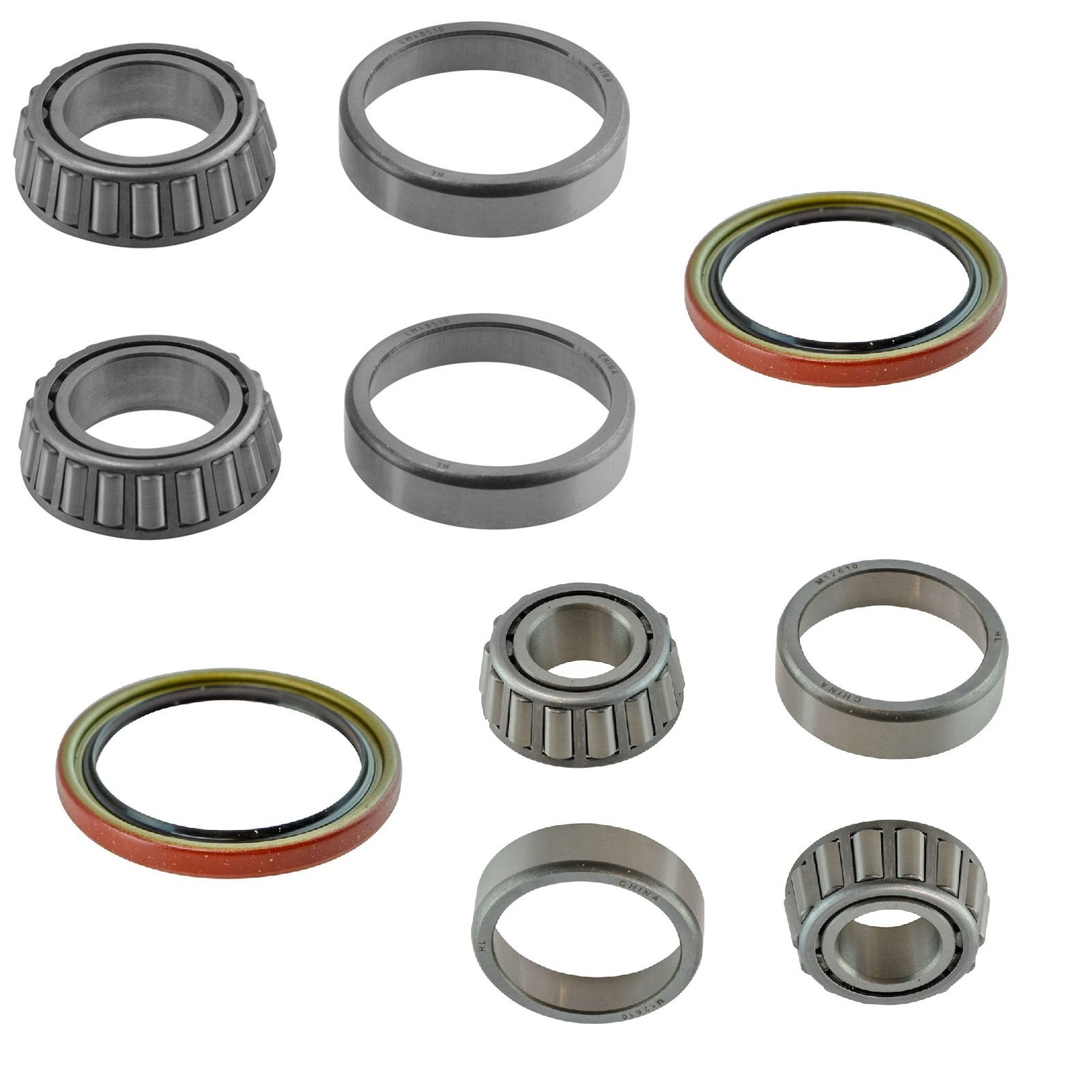 6 Piece Inner & Outer Wheel Bearing w/Seal Kit LH & RH Sides for GMC Chevy Truck by TRQ