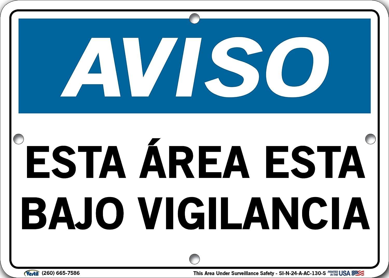 Amazon.com: Vestil SI-N-24 - Cartel de aviso en español, con ...