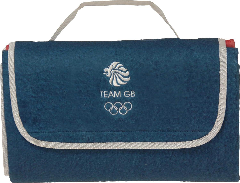 Highlander Lion Head Team GB Picnic Blanket Blue