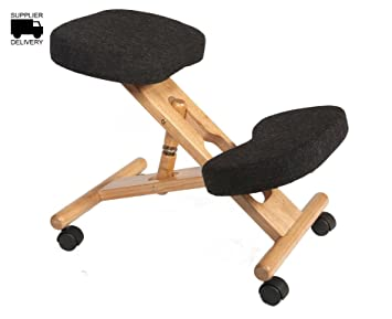 Wooden Posture Kneeling Fabric Chair Charcoal Color Charcoal - Posture chair