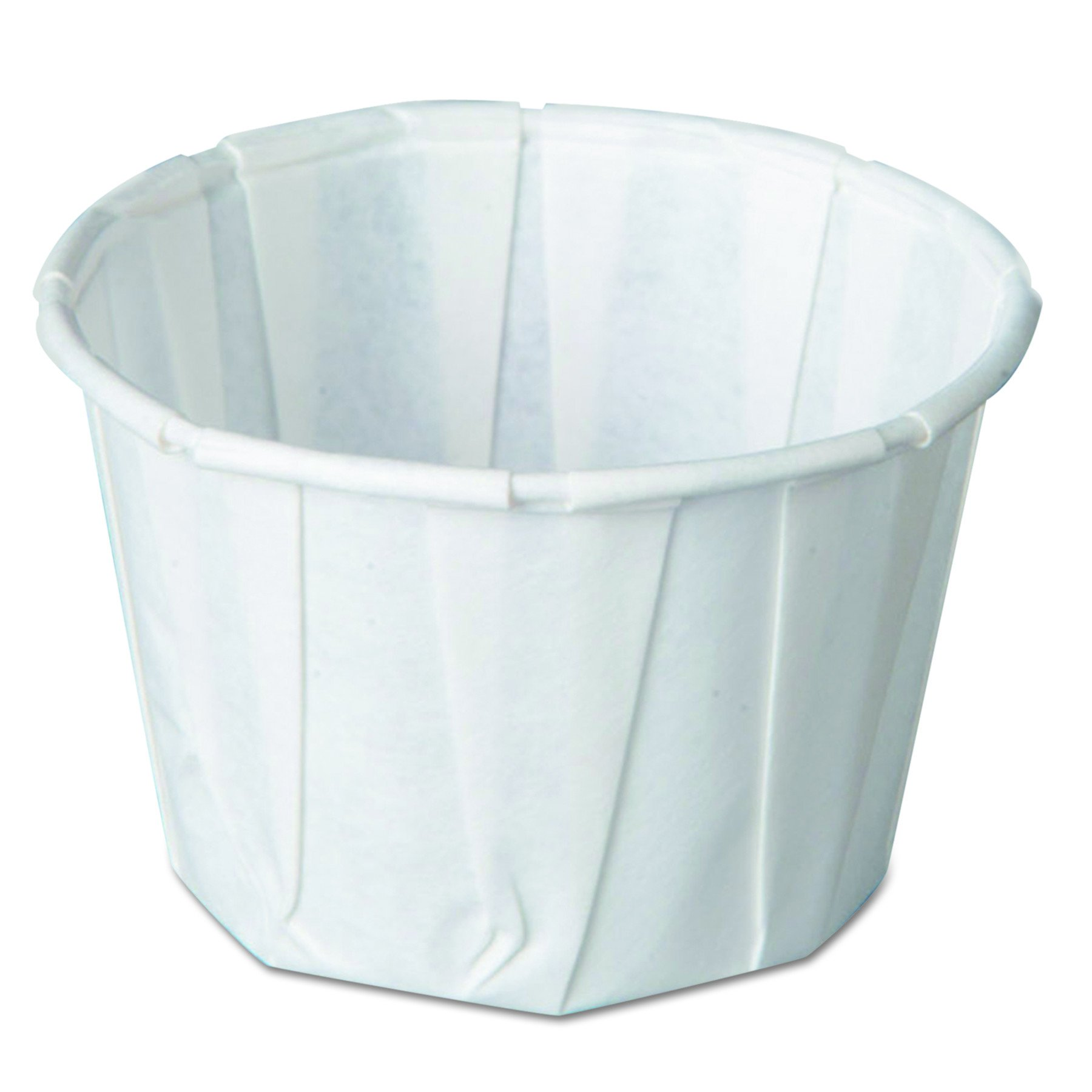 Genpak F200 2-Ounce Capacity 1-3/8-Inch Height White Color Pleated Paper Portion Cup 250-Pack (Case of 20) by Genpak