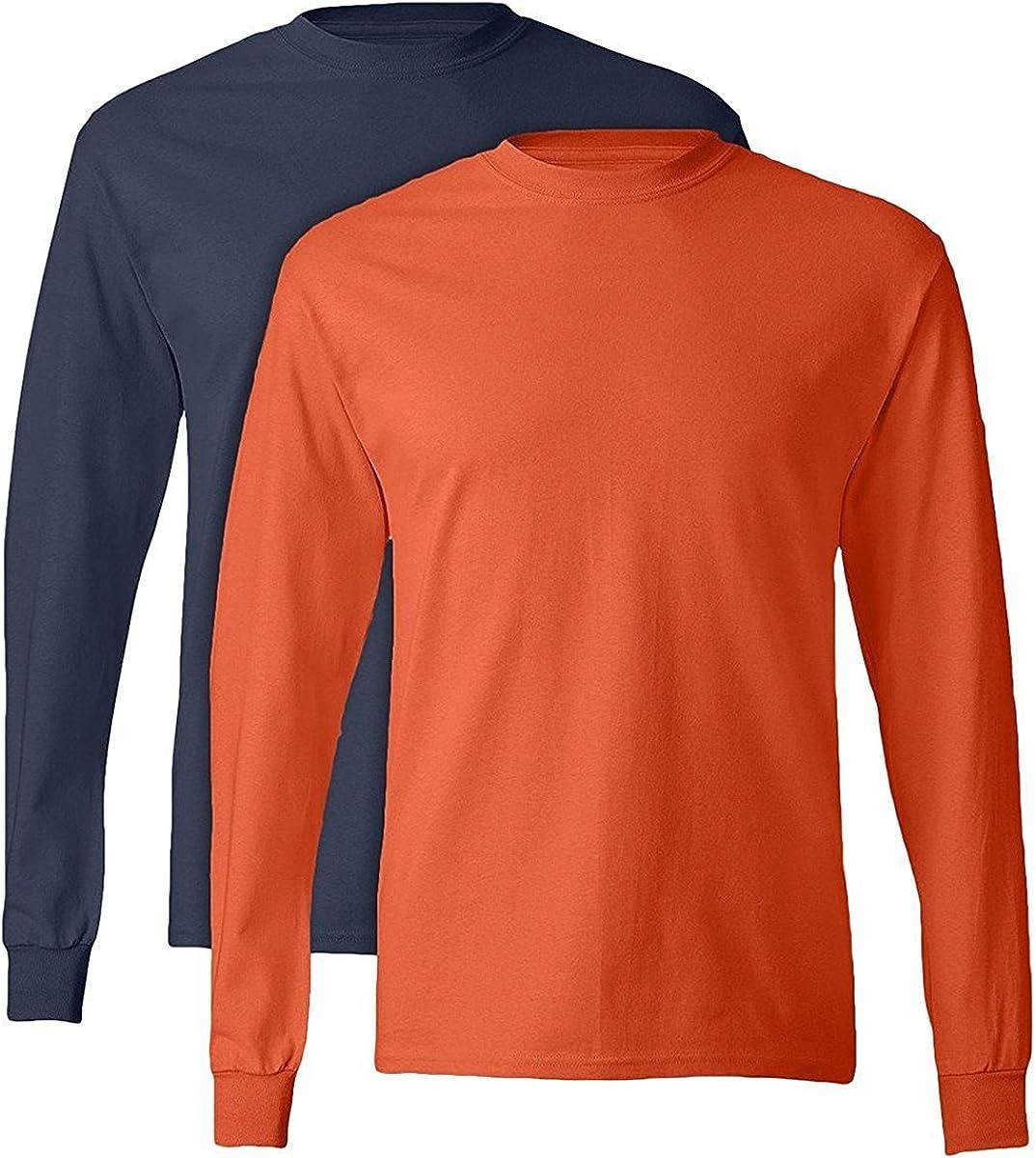 Hanes TAGLESS Long-Sleeve T-Shirt Set of 2