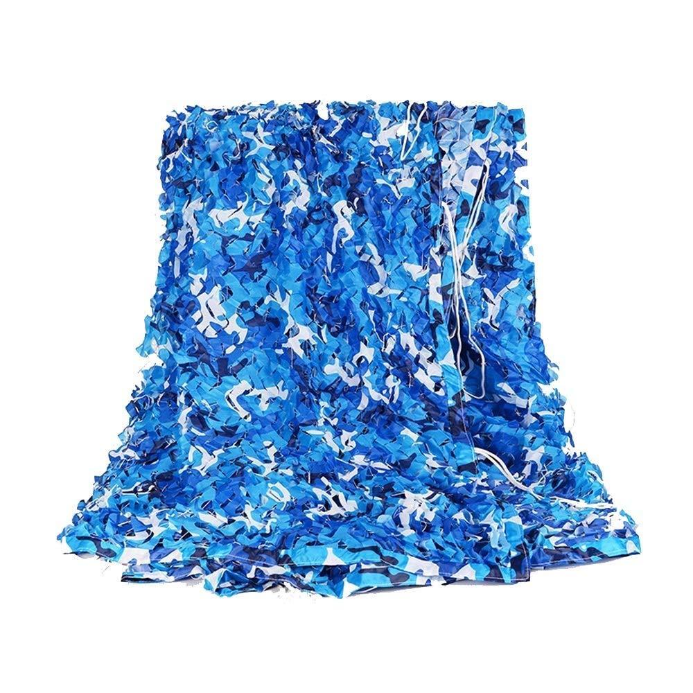 Ljdgr Filet Camo Visière Extérieure GR Filet de Camouflage de Couleur Bleu océan pour Camping en Cuir (Taille Multiple) (Taille  4x6M) Armée Camo Filet (Taille   5x8M)  5x8M