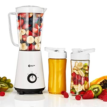 Balter batidora MX de 1 Viva Smoothie maker ✓ 1L Depósito ✓ 2 x 400 ml botellas ✓ Lavavajillas ✓ 350 W ✓ Color: Blanco: Amazon.es: Hogar