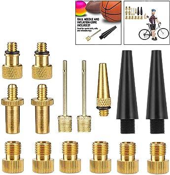 LHKJ 15 Piezas Adaptador de Válvula de Bicicleta Juego de Válvulas ...