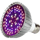 Morsen 50W LED Grow Light Bulb, Grow lamp for indoor plants, Plant Light Bulb for Indoor Garden Greenhouse and Hydroponic Plants Full Spectrum (E27 78leds)