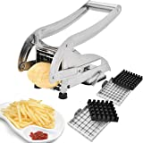 Sopitp French Fries Cutter, Stainless Steel No Plastic for Homemade Chips/Fries